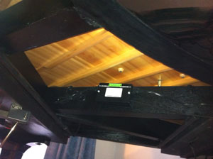 Piano Life saver system in a grand piano